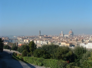 Views from Piazzale Michelangelo, over the city of Florence